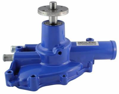 Platinum SuperCool Water Pump 5.735 in. Hub Height 5/8 in. Pilot Reverse Rotation Blue Driver Side Inlet 1594NCBLUE