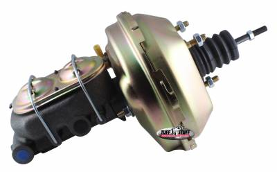 Brake Booster w/Master Cylinder 9 in. 1 1/8 in. Bore Single Diaphragm w/PN[2071] Dual Rsvr. Master Cyl. (3) M10-1.5 x 28MM Metric Studs Gold Zinc 2133NB