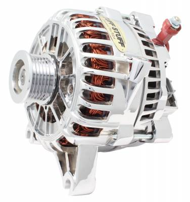 Alternator 225 AMP Upgrade OEM Wire 6 Groove Pulley Aluminum Polished 8252DP
