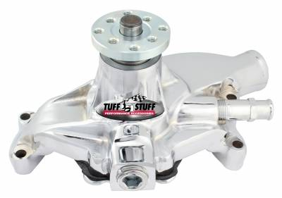 Standard Style Water Pump 5.843 in. Hub Height 3/4 in. Pilot Threaded Water Port Reverse Rotation Chrome For Custom Serpentine Systems Only 1534NAREV