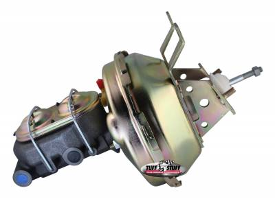 Brake Booster w/Master Cylinder 9 in. 1 1/8 in. Bore Single Diaphragm w/PN[2071] Dual Rsvr. Master Cyl. Incl. 3/8 in.-16 Studs Gold Zinc 2130NB