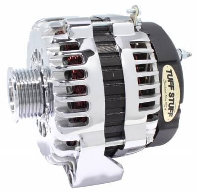 Alternator 180 AMP OEM Wire 6 Groove Pulley 2 Pin Voltage Regulator Chrome 8302A