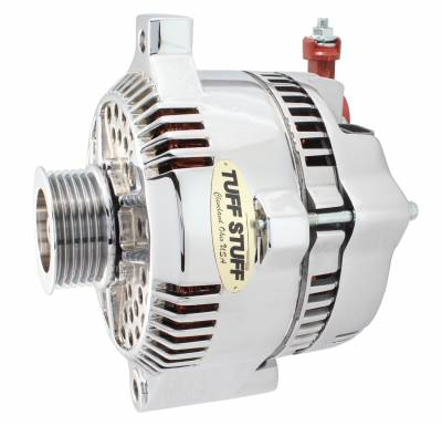 Alternator 225 AMP OEM Wire 6 Groove Pulley Polished 8266DP