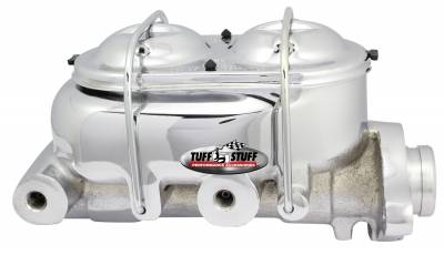 Brake Master Cylinder Dual Reservoir 1 in. Bore Dual 3/8 in. Ports On Both Sides 3 3/8 in. Mounting Hole Spacing Shallow Hole Chrome 2020NA