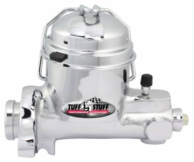 Brake Master Cylinder Single Rsvr. 1 in. Bore Dual 7/16-24 Ports 3 1/2 in. Mounting Hole Spacing Drum-Drum Fruit Jar Style Chrome 2150NA