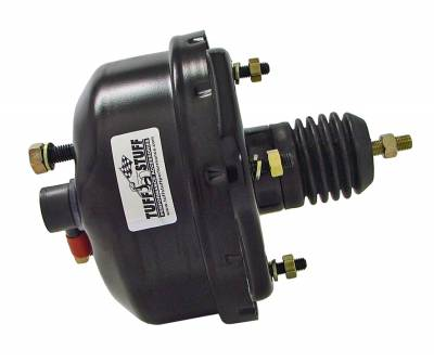 Power Brake Booster Univ. 7 in. Single Diaphragm Incl. 3/8 in.-16 Mtg. Studs And Nuts Fits Hot Rods/Customs/Muscle Cars Black Powdercoat 2221NC