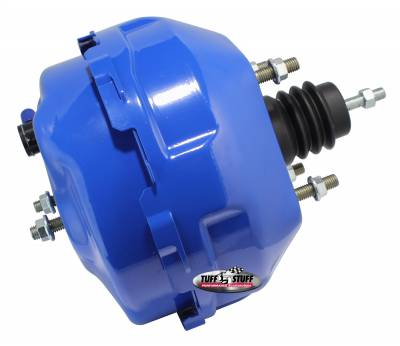 Power Brake Booster Univ. 9 in. Dual Diaphragm Rod Length 4.12 in. Incl. 3/8 in.-16 Mtg. Studs And Nuts Fits Hot Rods/Customs/Muscle Cars Blue Powdercoat 2224NCBLUE