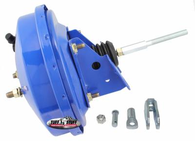 Power Brake Booster Univ. 9 in. Single Diaphragm Incl. 3/8 in.-16 Mtg. Studs And Nuts Fits Hot Rods/Customs/Muscle Cars Blue Powdercoat 2226NBBLUE