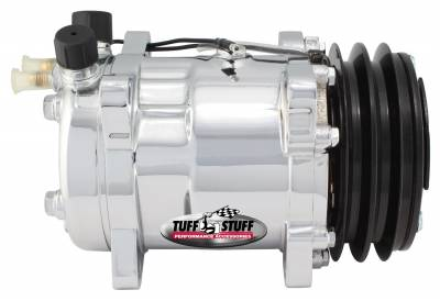 Sanden Style SD508 A/C Compressor R12 Series Double Pulley Chrome 4505NADP