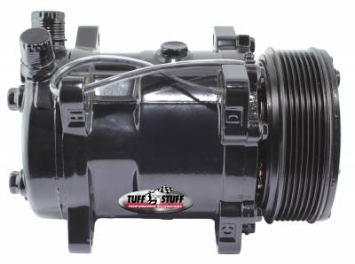 Sanden Style SD508 A/C Compressor R134A Series 6 Groove Pulley Stealth Black 4515NK6G