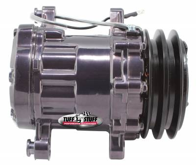 Sanden Style SD7 A/C Compressor R134A Series Double Pulley Black Chrome 4517NADP7
