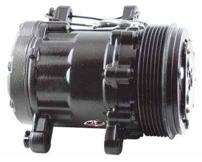 Sanden Style SD7 A/C Compressor R134A Series 6 Groove Pulley Black 4517NC6GBLA