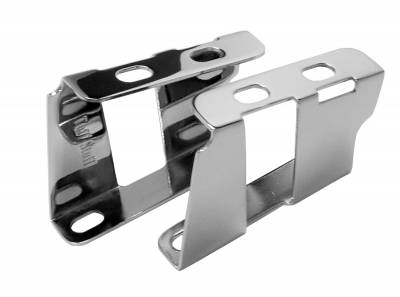 Brake Booster Brackets Incl. Left And Right Side 1955-1964 GM For Brake Booster PN[2121/2122/2123/2124/2221/2222/2223/2228/2229/2231] Chrome 4651A
