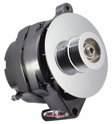 Alternator 100 AMP Smooth Back 1 Wire 6 Groove Pulley Black Chrome 7068RD6G7
