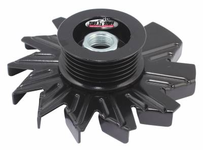 Alternator Fan And Pulley Combo 6 Groove Serpentine Pulley Incl. Fan/Lock Washer/Nut Stealth Black 7600DB