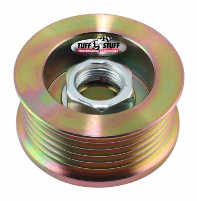 Alternator Pulley 2.25 in. 6 Groove Serpentine Incl. Lock Washer/Nut Gold Zinc 7610AD