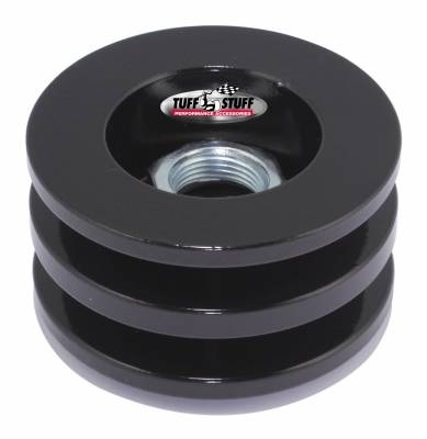 Alternator Pulley 2.628 in. Double V Groove Incl. Lock Washer/Nut Stealth Black 7610FB