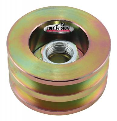 Alternator Pulley 2.628 in. Double V Groove Incl. Lock Washer/Nut Gold Zinc 7610FD