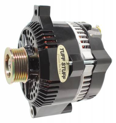 Tuff Stuff Performance - Alternator 150 AMP 1 Wire 6G Groove Pulley Internal Regulator Stealth Black For Use In Ford 5.0L Models 7771BW6G - Image 2