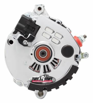 Alternator 120 AMP CS121 GM Style Mini Racer 1 Wire Or OEM Hookup 12 Volt 6G Groove Pulley Polished Aluminum Side Terminal For Use In GM Models 7937APST6G
