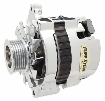 Tuff Stuff Performance - Alternator 120 AMP CS121 GM Style Mini Racer 1 Wire Or OEM Hookup 12 Volt 6G Groove Pulley Chrome Side Terminal For Use In GM Models 7937AST6G - Image 1