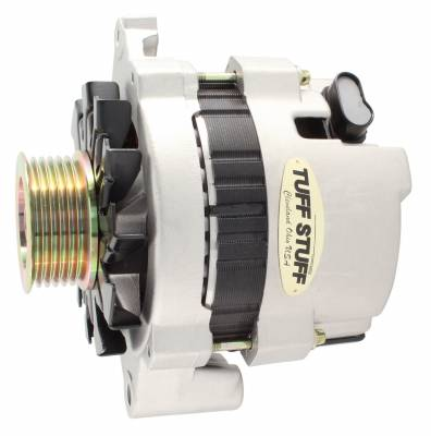 Alternator 120 AMP CS121 GM Style Mini Racer 1 Wire Or OEM Hookup 12 Volt 6G Groove Pulley Factory Cast PLUS+ Side Terminal For Use In GM Models 7937ST6G