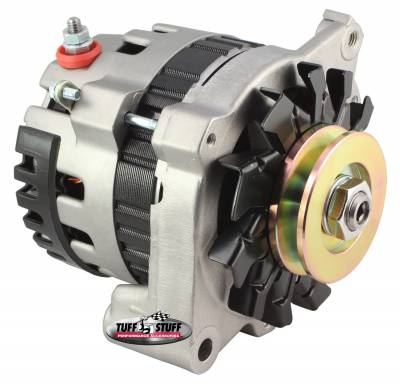 Alternator 120 AMP CS121 GM Style Mini Racer 1 Wire Or OEM Hookup 12 Volt V Groove Pulley Factory Cast PLUS+ Side Terminal 7937ST