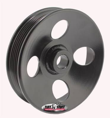 Type II Power Steering Pump Pulley For .669 in. Shaft 6-Groove Fits All Tuff Stuff Type II Pumps That Require A 17mm Press-On Pulley Black Powder Coated 8487B