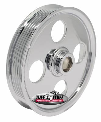 Type II Power Steering Pump Pulley For .748 in. Shaft 6-Groove Fits All Tuff Stuff Type II Pumps That Require A 19mm Press-On Pulley Chrome Plated 8489A