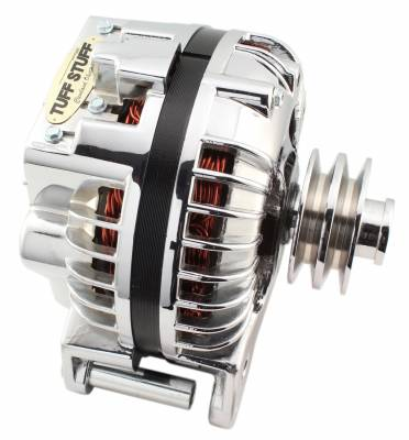 Tuff Stuff Performance - Alternator 130 AMP 1 Wire Double Groove Pulley Chrome 9509RDDP - Image 2